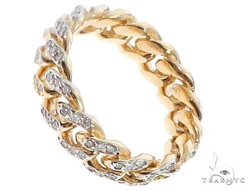 10k Yellow Gold Diamond Miami Cuban Ring 64676 Stone