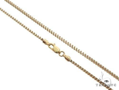 Solid 10K Yellow Gold Diamond Cut Franco Link Chain 28 Inches 3mm 36.0 Grams 64686 Gold