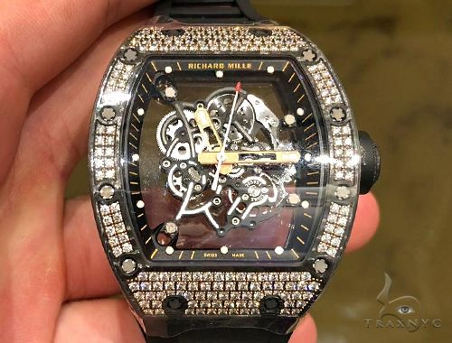 Richard Mille RM055 Bubba Watson Carbon TPT 200 Med Diamonds Set 64693 Richard Mille