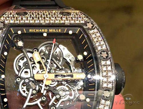 Richard Mille RM055 Bubba Watson Carbon TPT 200 Med Diamonds Set 64693 Richard Mille