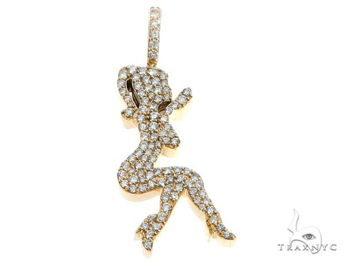 14k Yellow Gold Diamond Women's Silhouette 64691 Metal