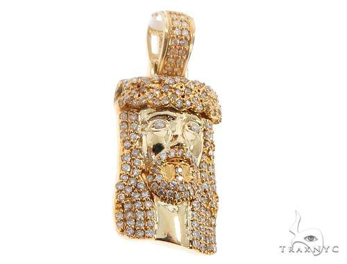 14k Yellow Gold Diamond Jesus Pendant 64702 Metal