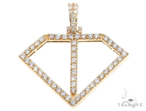 14k Yellow Gold Diamond Pendant 64711 Metal
