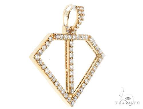 14k Yellow Gold Diamond Pendant 64711 Metal