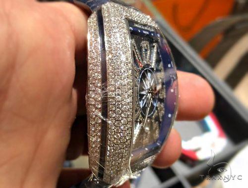 Franck Muller Vanguard Diamond Case & Numerals Blue Dial Yachting Watch 64716 Franck Muller