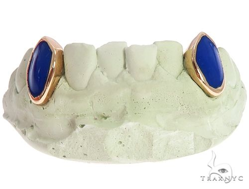 14k Yellow Gold and Enamel Fangs 64724 Men Specials