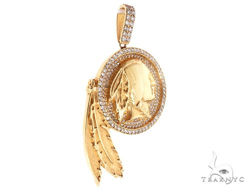 Indian Head Diamond Pendant 64725 Metal