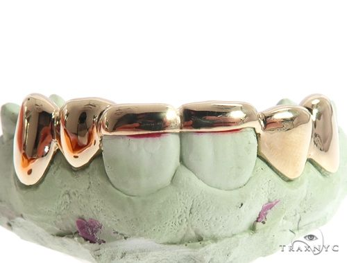14k Yellow Gold Bridge Style Grillz 64726 Men Specials