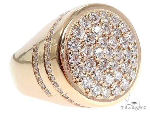 14K Yellow Gold Prong Diamond Traxnyc Ring 64739 Stone