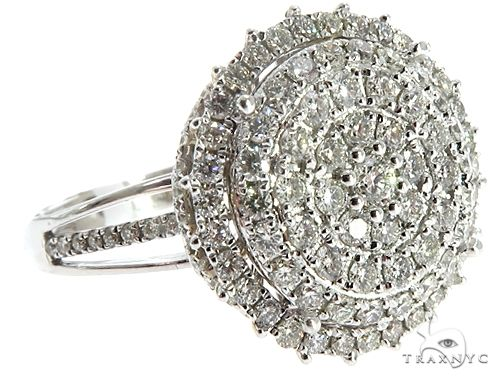 14k Two Tone Diamond Cluster Ring 64749 Anniversary/Fashion