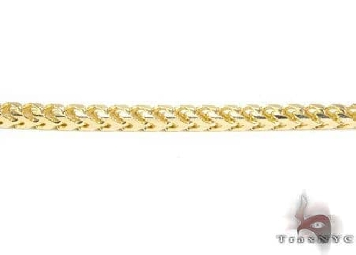 14K Yellow Gold Solid Franco Chain 35 Inches, 4mm, 91.4 Grams 64753 Gold