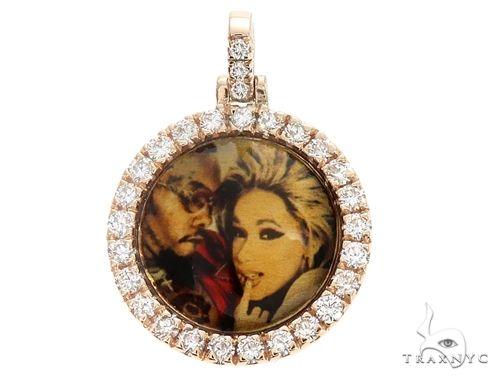 14K Gold Custom Photo Pendant 0.75 Inch 64758 Style