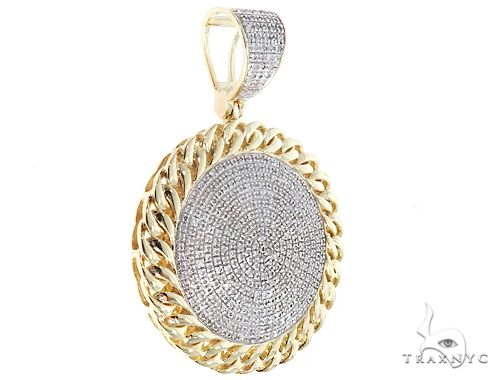 10K Yellow Gold Diamond Circle Pendant 64764 Metal