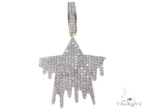 10K Yellow Gold Diamond Star Pendant 64766 Metal