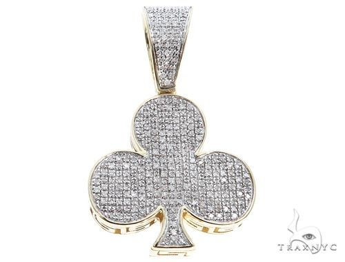 10K Yellow Gold Diamond Club Pendant 64767 Metal