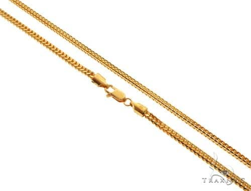 22K Yellow Gold Foxtail Link Chain 22 Inches 3mm 31.96 Grams 64774 Gold
