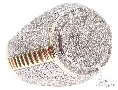 10K Yellow Gold Men's Diamond Ring 64783 Stone