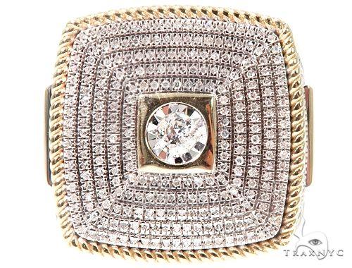 10K Yellow Gold Men's Diamond Ring 64784 Stone
