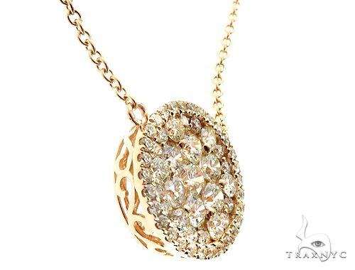 14K Yellow Gold Diamond Cluster Pendant 64785 Diamond