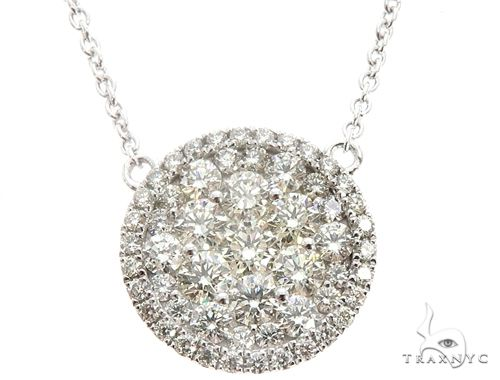 14K White Gold Diamond Cluster Pendant 64786 Diamond