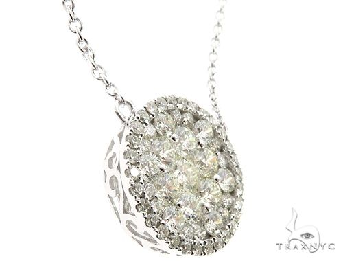 14K White Gold Diamond Cluster Pendant 64786 Diamond