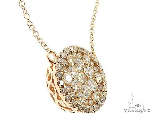 14K Yellow Gold Diamond Cluster Pendant 64787 Diamond