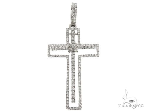 14K Two in One Diamond Cross Pendant 64789 Stone