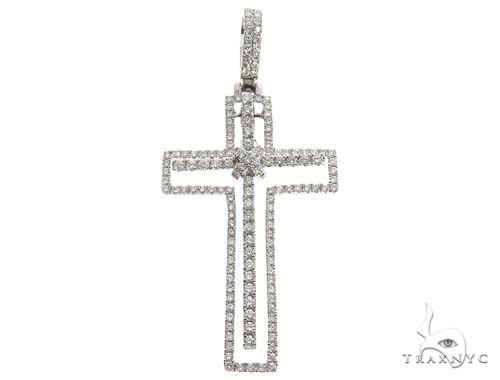 14K Two in One Diamond Cross Pendant 64789 Stone