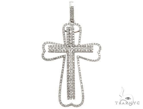 14K Two in One Diamond Cross Pendant 64791 Stone