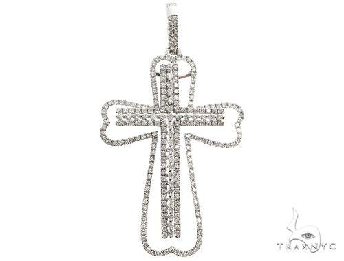 14K Two in One Diamond Cross Pendant 64791 Stone