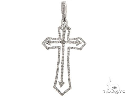 14K Two in One Diamond Cross Pendant 64792 Stone