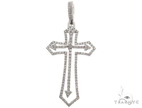 14K Two in One Diamond Cross Pendant 64792 Stone