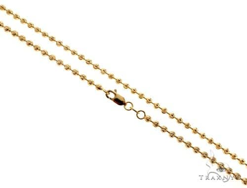 14K Yellow Gold Moon Cut Link Chain 26 Inches 2mm 8.5 Grams 64808 Gold