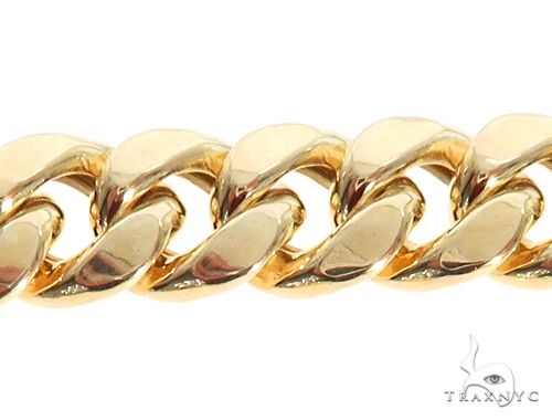 Miami Cuban Link Bracelet Hollow 8.5 Inches 7.5mm 15.0 Grams 64810 Gold
