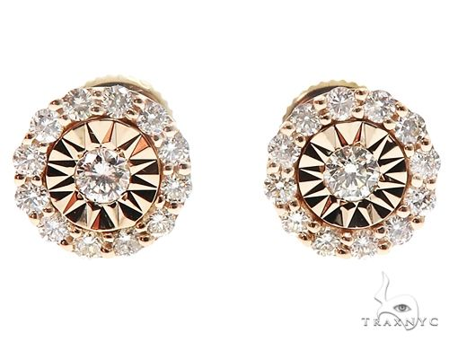 14k Gold Diamond Stud Earrings 64822 Stone