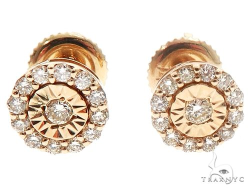 14k Gold Diamond Stud Earrings 64824 Stone