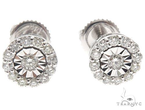 14k WG Diamond Stud Earrings 64825 Stone