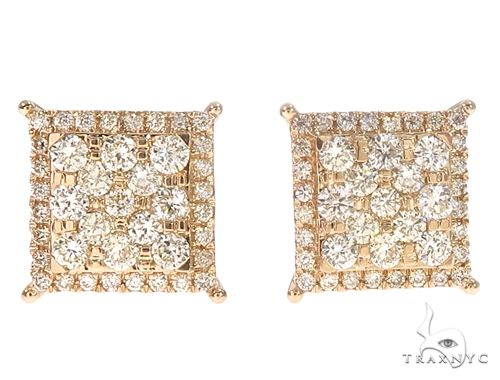14k Gold Diamond Stud Earrings 64829 Stone