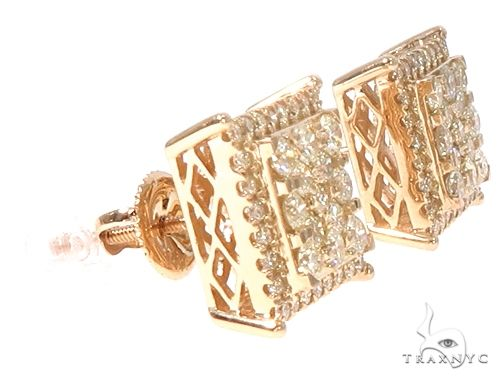 14k YG Diamond Stud Earrings 64829 Stone