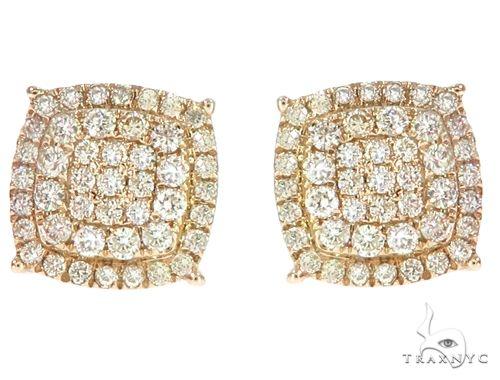 14k YG Diamond Stud Earrings 64830 Stone