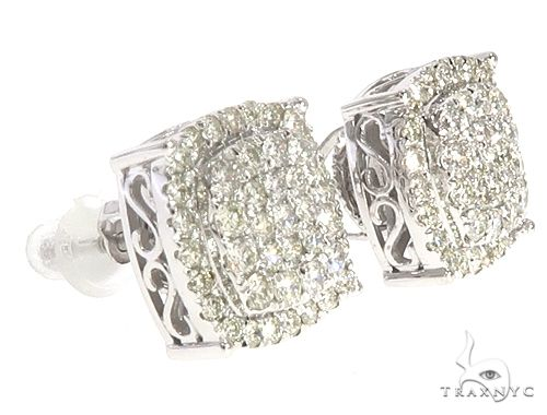 14k WG Diamond Stud Earrings 64831 Stone