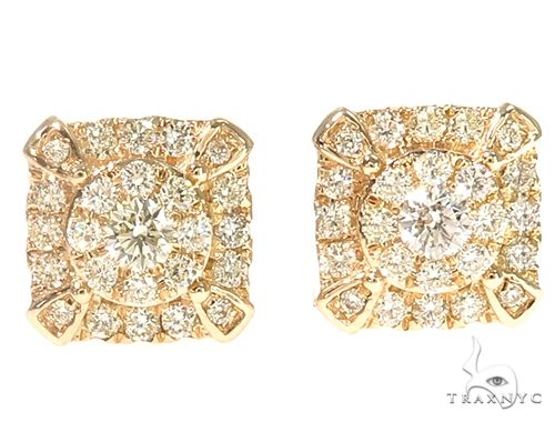 14k YG Diamond Stud Earrings 64832 Stone
