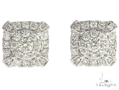 14k WG Diamond Stud Earrings 64833 Stone