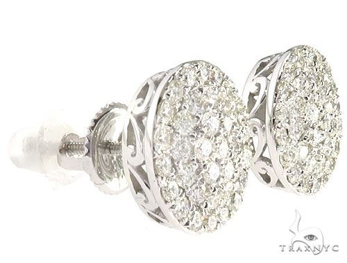 14k WG Diamond Stud Earrings 64834 Stone