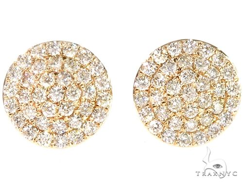 14k YG Diamond Stud Earrings 64835 Stone
