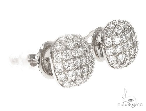 14k WG Diamond Cluster Stud Earrings 64840 Stone