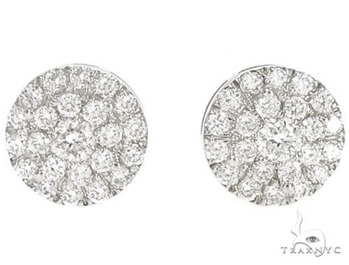 14k WG Diamond Cluster Stud Earrings 64841 Stone
