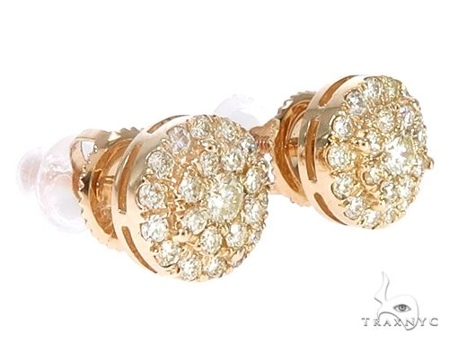 14k YG Diamond Cluster Stud Earrings 64843 Stone