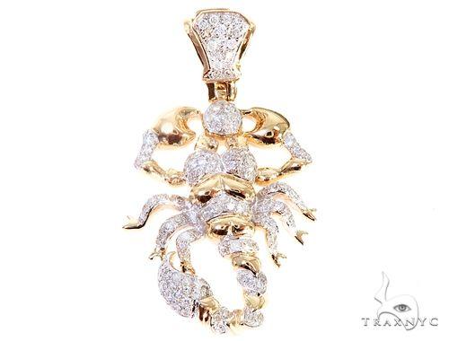 Micro Pave Diamond Small Scorpion Pendant 64856 Stone