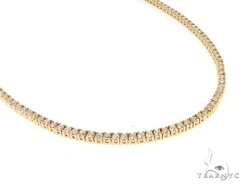 14k YG 3mm Diamond Tennis Necklace 64870 Diamond